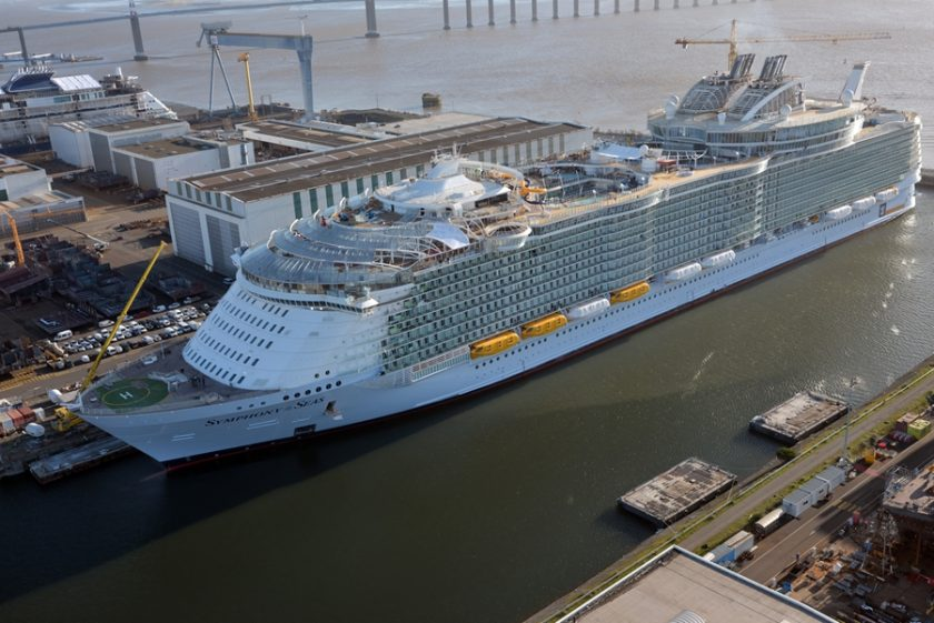 Symphony of the Seas January Construction Photos