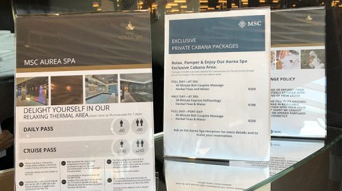MSC Seaside Review- Spa