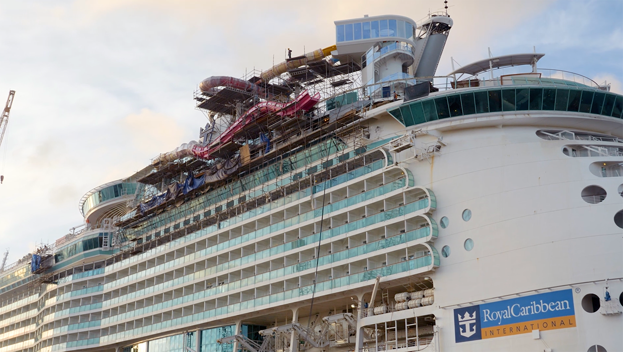 Behind the Scenes: Navigator of the Seas 2019 Dry Dock